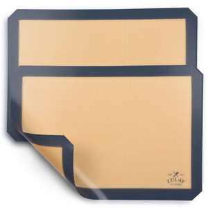 "Zulay Kitchen (2 Pack) Silicone Baking Mat Sheet Set - Reusable Baking Mat Nonstick (Size 16.5"" x 11.6"")"