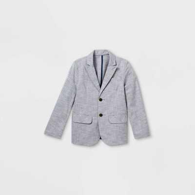 Boys' Chambray Blazer Jacket - Cat & Jack Blue