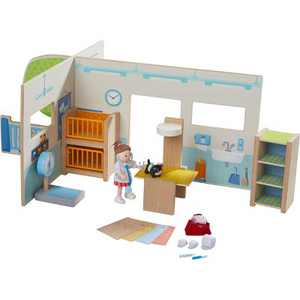 HABA Little Friends Veterinary Clinic Play Set