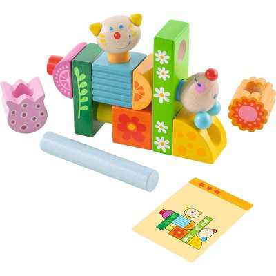 HABA Cat and Mouse Brain Builder Peg Set for Ages 2-6