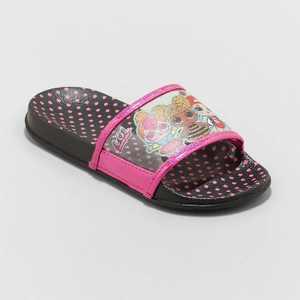 Girls' L.O.L. Surprise! Slip-On Slide Sandals - Black