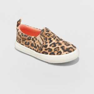 Toddler Girls' Kennedy Leopard Print Slip-On Sneakers - Cat & Jack Brown