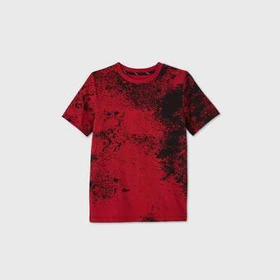 Boys' Short Sleeve Splatter Graphic T-Shirt - art class Red