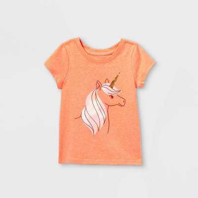 Toddler Girls' Unicorn Tie-Dye Short Sleeve T-Shirt - Cat & Jack Peach