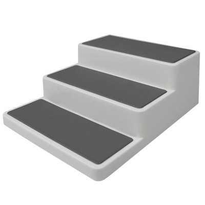 Home Basics 3 Tier  Rubber Lined Plastic Seasoning Rack, White