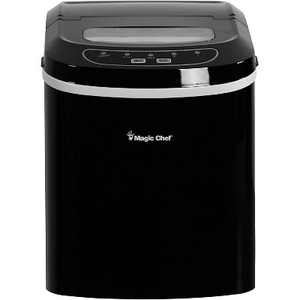 Magic Chef MCIM22B Portable Home Countertop Ice Maker with Settings Display, 27 Pounds Per Day, Black