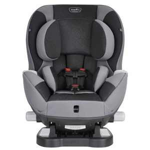 Evenflo Adjustable Triumph Convertible 2-in-1 Extended-Use Car Seat with Dual Cupholders, Black/Gray