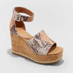 Women's Julianna Cork Wedge Heels - Universal Thread