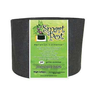 Smart Pot 30 Gallon Portable Fabric Dirt Grow Planter Vegetable Plant Flower Pot Soft Sided Container Bucket, Black