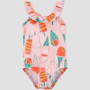Baby Girls' Popsicle Ruffle One Piece Swimsuit - Just One You made by carter's Pink