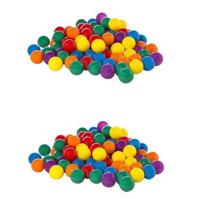 Intex Plastic Multi-Colored Balls for Bounce Houses (100 Large & 100 Small)