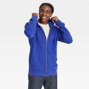 Men's Fleece Full-Zip Hoodie Sweatshirt - Goodfellow & Co