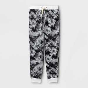 Boys' Tie-Dye Cozy Knit Jogger Pants - Cat & Jack Gray