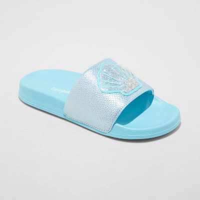 Girls' Pandora Mermaid Slip-On Slide Sandals - Cat & Jack