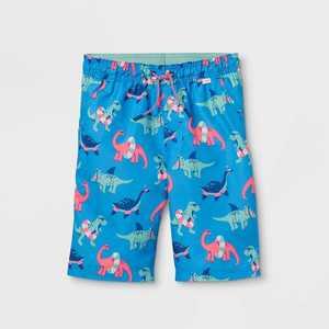 Boys' Dinosaur with Floaties Swim Trunks - Cat & Jack Blue