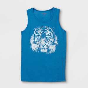 Boys' Tiger Tank Top- Cat & Jack Blue