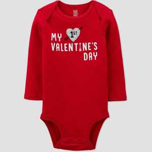 Baby 'My First Valentine's Day' Bodysuit - Just One You made by carter's Red
