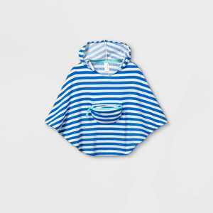 Toddler Girls' Striped Beach Cover Up - Cat & Jack Blue