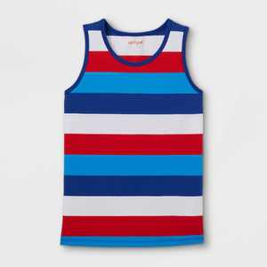 Boys' Striped Tank Top - Cat & Jack Red/White