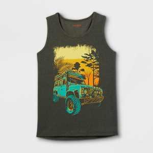 Boys' Safari Truck Tank Top - Cat & Jack Olive
