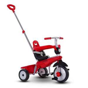 smarTrike Breeze Kids 3 in 1 Tricycle Push Bike, Adjustable Trike Ride On Toy for Baby, Toddler, and Infant Ages 15 Months to 3 Years, Red