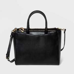 Triple Compartment Satchel Handbag - A New Day