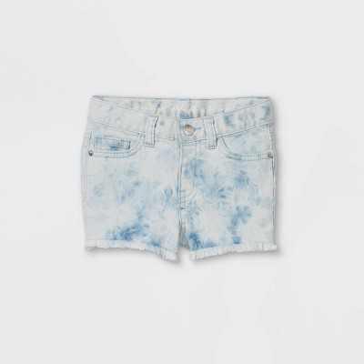 Toddler Girls' Tie-Dye Jean Shorts - Cat & Jack Blue