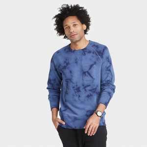 Men's Regular Fit Raglan Crew Neck Sweatshirt - Goodfellow & Co