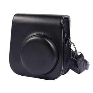 Insten Leather Case Cover for Fujifilm Instax Mini 11 Camera with Adjustable Shoulder Strap, Black