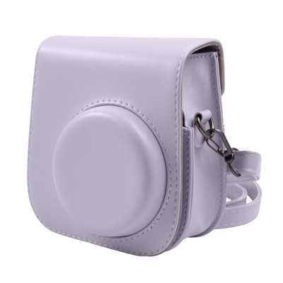 Insten Case For Fujifilm Instax Mini 11 Camera, Protective Soft PU Leather Case with Adjustable Shoulder Strap, Purple