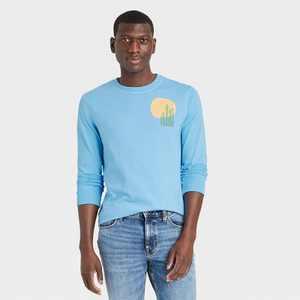 Men's Long Sleeve Graphic T-Shirt - Goodfellow & Co
