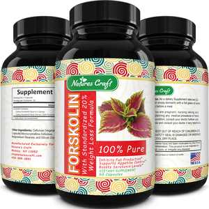 Natures Craft Forskolin 250 mg Extreme Weight Loss Supplement for Women and Men  60ct