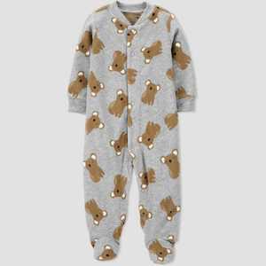 Baby Boys' Koala Fleece Footed Pajama - Just One You made by carter's Gray
