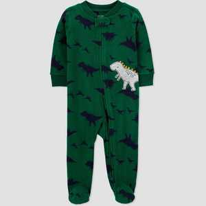 Baby Boys' Dino Fleece Sleep N' Play - Just One You made by carter's Green