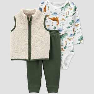 Baby Boys' Dino Vest Top & Bottom Set - Just One You made by carter's Green