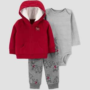Baby Boys' Moose Top & Bottom Set - Just One You made by carter's Red
