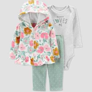Baby Girls' Floral Top & Bottom Set - Just One You made by carter's Pink/Green