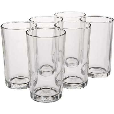Duralex Urie 7 Ounce Clear Tempered Glass Stacking Glassware Drinkware Tumbler Drinking Glasses, Set of 6