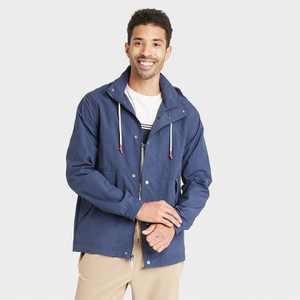 Men's Vintage Windbreaker Jacket - Goodfellow & Co Navy
