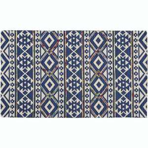 """2'3""""x3'9"""" Rectangle Cotton Floor Mat Blue - Nourison"""
