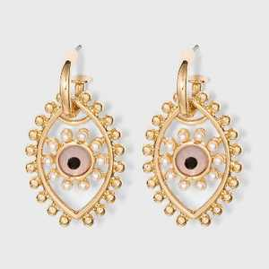 SUGARFIX by BaubleBar Evil Eye Drop Earrings - Gold