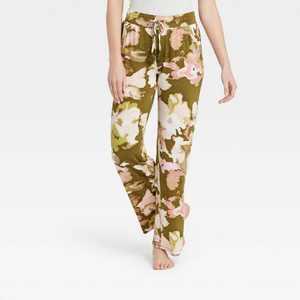 Women's Floral Print Beautifully Soft Pajama Pants - Stars Above Green
