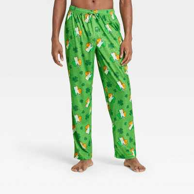 Men's Irish Clover Lounge Pajama Pants - Green