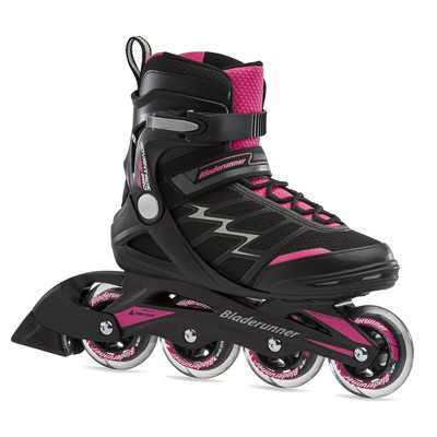 Rollerblade Bladerunner Advantage Pro XT Womens Adult Outdoor Recreational Fitness Inline Skate, Size 8, Black and Pink
