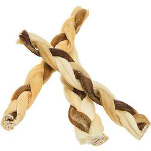 """Pawstruck 7"""" Bully Stick Rawhide Braids for Dogs 