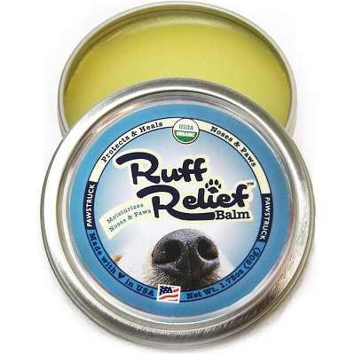 Pawstruck Ruff Relief Organic Nose & Paw Balm for Dogs | Natural, Made in USA Dry Cracked Skin Soother | Snout & Foot Pad Moisturizer - 1 Tin(s)