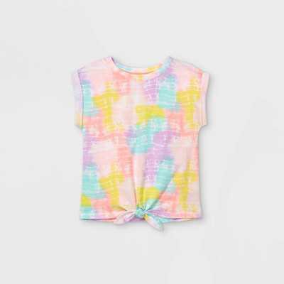 Toddler Girls' Tie-Front T-Shirt - Cat & Jack