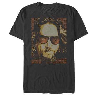 Men's The Big Lebowski The Dude Text Poster T-Shirt