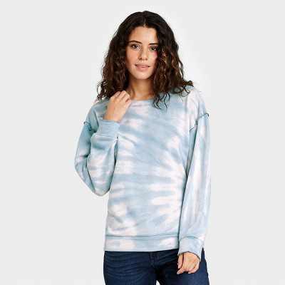 Women's Tie-Dye Sweatshirt - Knox Rose Blue