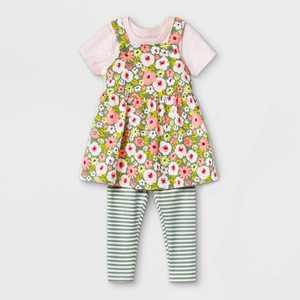 Baby Girls' Floral Skirtall Top & Bottom Set - Cat & Jack Pink
